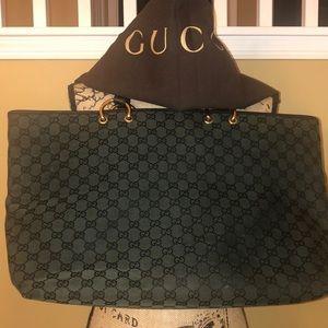 Gucci Monogram Green Tote Bag w/ original Dust Bag